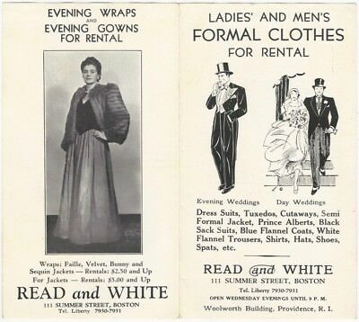 1920s Boston Ladies' & Mens' Formal Clothes Rental Store Brochure](1920s Mens Clothes)