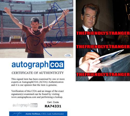 "PIERCE BROSNAN signed Autographed ""THE MATADOR"" 8X10 Photo PROOF James Bond ACOA"