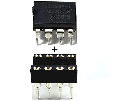 2Pcs On Semiconductor Mc34063a Mc34063   Socket   Buck Boost Inverting Regulator