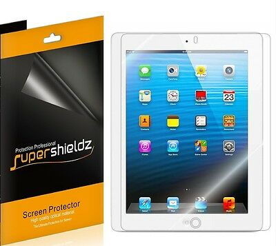 3X Supershieldz Ultra Clear FILM Screen Protector for New iPad 2nd 3rd & 4th gen