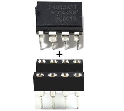 10Pcs On Semiconductor Mc34063a Mc34063   Socket Buck Boost Inverting Regulator