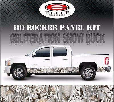 "Oblit Snow Buck Camo Rocker Panel Graphic Decal Wrap Truck SUV - 12"" x 24FT"