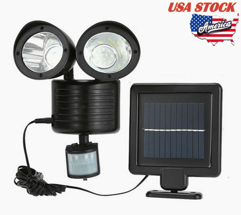 Solar Spot Light Ourdoor Waterproof Dual Detector Motion Sen