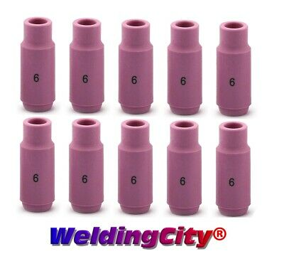 Weldingcity 10-pk Alumina Ceramic Cup 10n48 6 38 Tig Welding Torch 171826