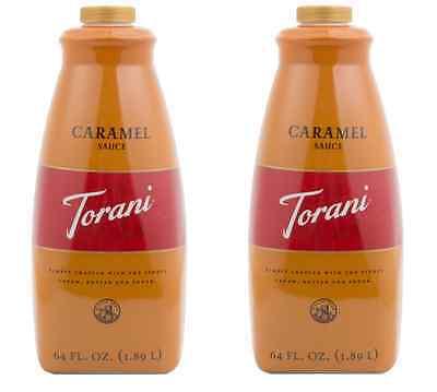 TORANI  CARAMEL SAUCE (2 Bottles/64 oz)  LATTE