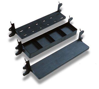 3 Pegboard Shelf Shelves Set Shelving Hanging Tool Holder 4 Pocket Garage Black