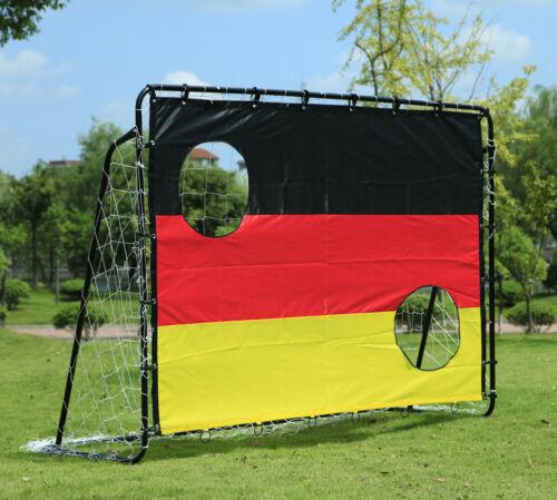 Fußballtor mit Torwand Fußball Garten Metall Fussballtor Fussball 210x150x75cm