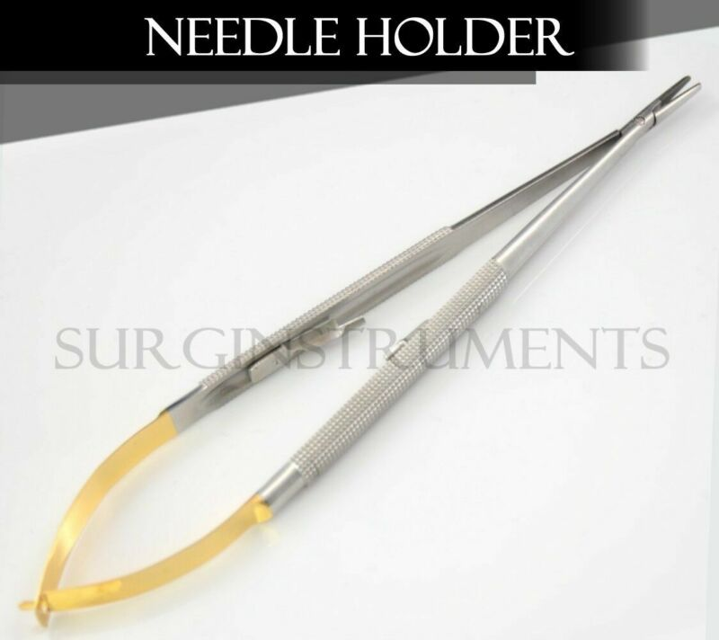 """T/C Castroviejo Needle Holder Surgical Dental Curved 7"""""""