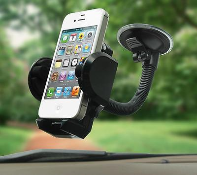 360  Car Windshield Mount Holder Bracket Cradle For Iphone Cell Phone Mobile Gps