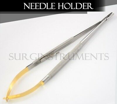 Tc Castroviejo Needle Holder Surgical Dental Curved 7