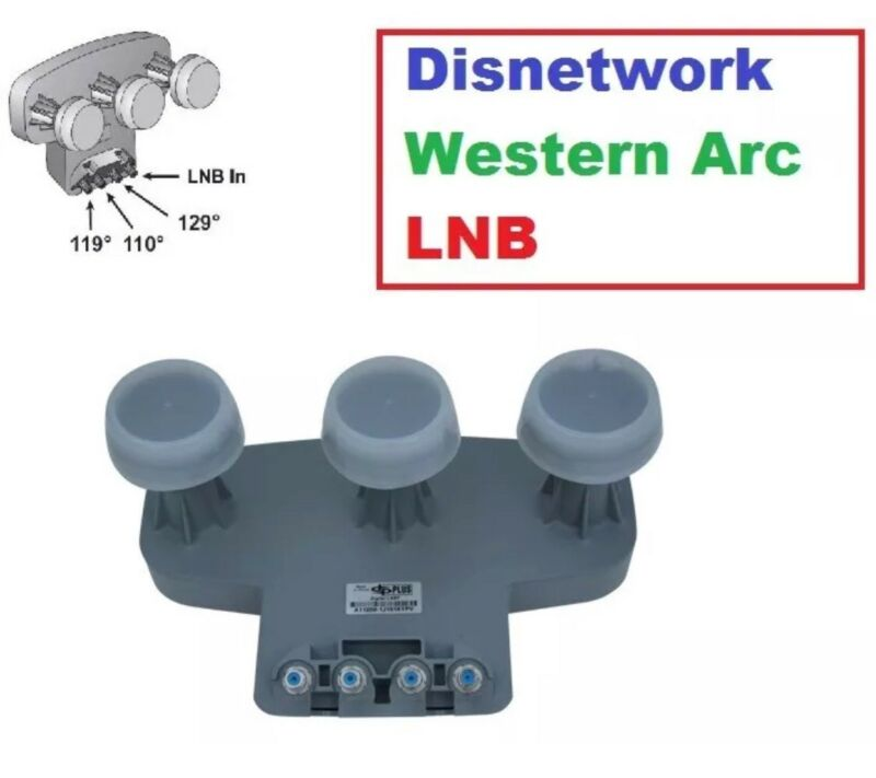 Dish Network 1000.2 LNB HD Western Arc WEST Satellite antenna LNBF 129 110 119