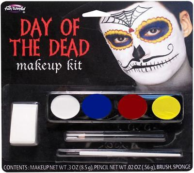 Mens Halloween Day of the Dead Fancy Dress Makeup Kit