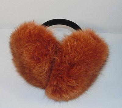 Rare Alaskan Red Arctic Fox EarMuffs Ear Muffins Winter Gear Fluffy Ear Warmers
