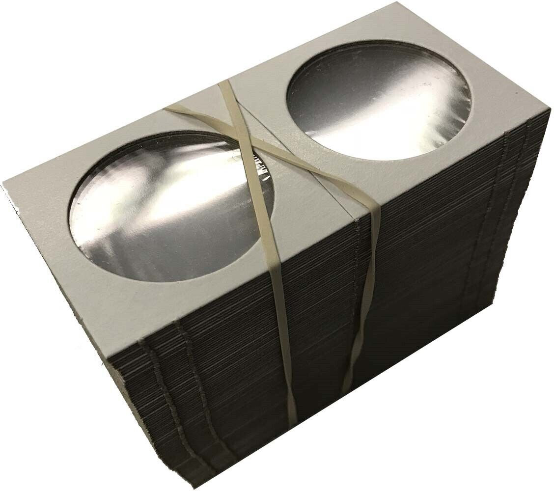 Large Dollar Size 2x2 Coin Cardboard Mylar Flips Holder Bundle of 100 Cowen's US