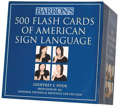 Barrons 500 Flash Cards Of American Sign Language  Cards