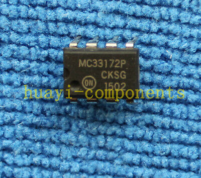 1pcs Mc33172p Low Power Single Supply Operational Amplifiers Dip-8