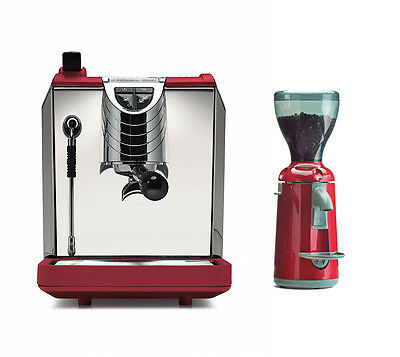 Nuova Simonelli Oscar 2 Ii Espresso Coffee Machine Grinta Grinder Set 220v Red