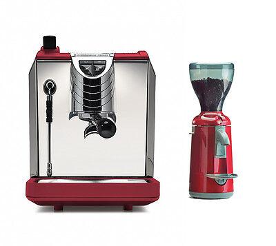 Nuova Simonelli Oscar 2 Ii Espresso Coffee Machine Grinta Grinder Set 220v Red