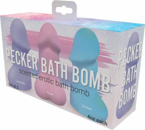 Pecker Bath Bombs 3 Pack Scents Lavender Rose Ocean