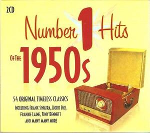 NUMBER-1-HITS-OF-THE-1950s-2-CD-BOX-SET-54-ORIGINAL-TIMELESS-CLASSICS