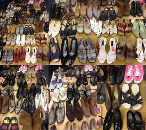 Job-Lot-Bundle-of-150-Pairs-of-Ladies-Shoes-Various-Sizes-Brands