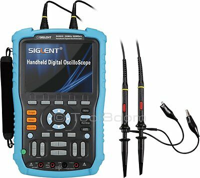 Siglent Shs820 Handheld Digital Oscilloscope 2-channel 200mhz 500mss 32k