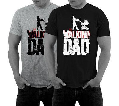 The Walking Dad T-Shirt Vatertag Shirt Geschenk Papa Eltern Kinderwagen Geburt