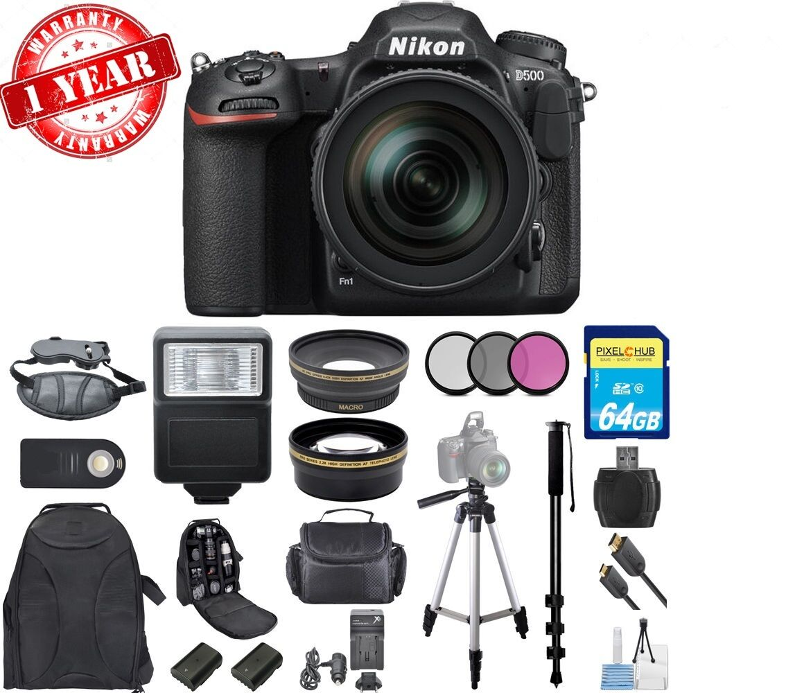 Nikon D500 DX-format DSLR w/ 16-80mm