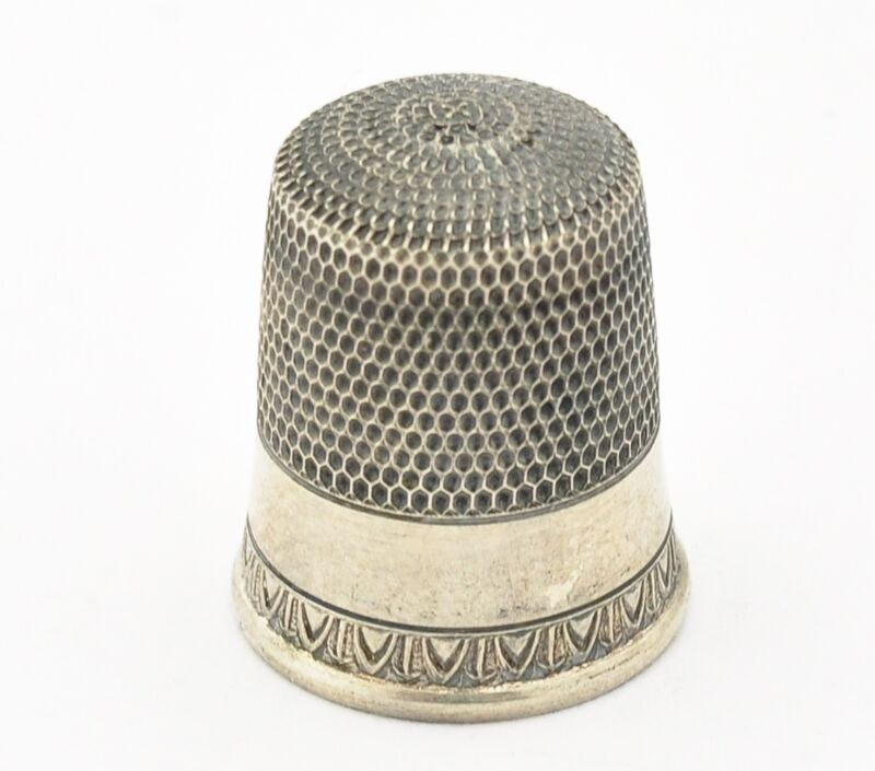 Antique Sterling Silver Thimble