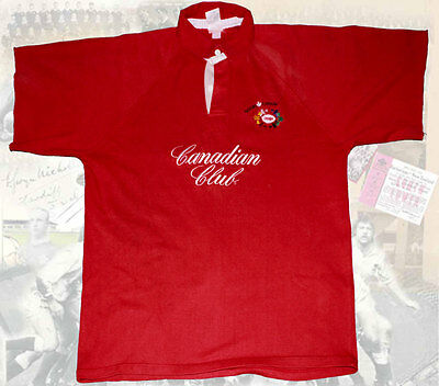 CANADA no 4 MATCH WORN RUGBY JERSEY Canada Rugby Jersey