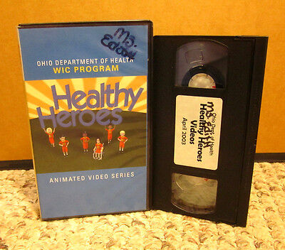 OHIO DEPARTMENT OF HEALTH animated kids video Healthy Heroes nutrition VHS play