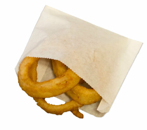 Small White Grease Resistant French Fry & Onion Ring Bags - 1,000 ct.