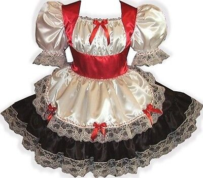 Custom Fit Holiday Swiss Maid Adult LG Baby Sissy Dress - Custom Maid Kostüm