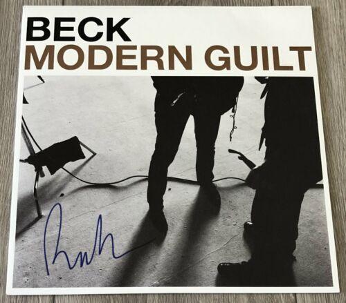 BECK HANSEN SIGNED AUTOGRAPH MODERN GUILT VINYL RECORD ALBUM w/PROOF