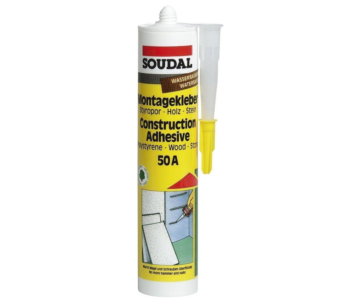 1x310ml Soudal Montagekleber 50A weiss Klebstoff Montageklebstoff Kraftfkleber