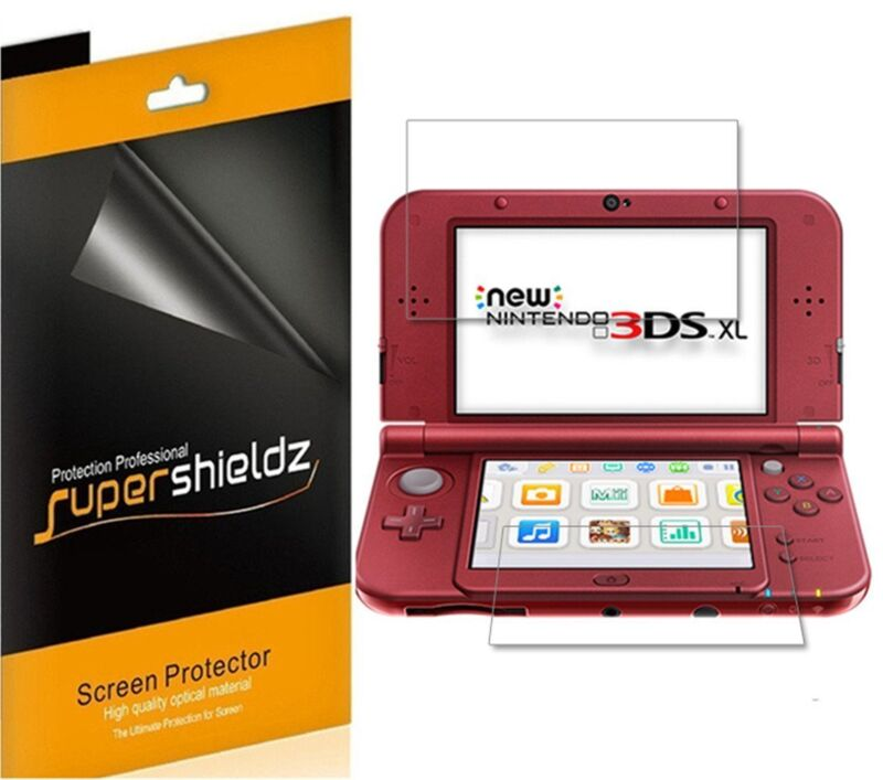 3XSupershieldz Clear LCD Screen Protector for New Nintendo 3DS XL (2015 Version)
