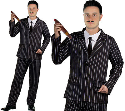 Tv Characters Costumes Halloween (MENS GOTHIC HUSBAND MR TV MOVIE FILM CHARACTER HALLOWEEN FANCY DRESS)