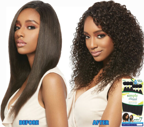 """Outre Simply Perfect 7 Wet & Wavy Sexy Curly 10""""10""""10""""12""""12""""12"""" non-processed"""