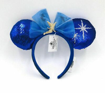 Ears Tinker Bell Disney Parks Shanghai Headband Peter Pan's Flight Blue