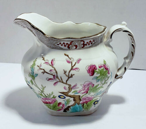 Antique Burgess & Leigh England Indian Tree Pattern Pitcher  FREE SHIPPING
