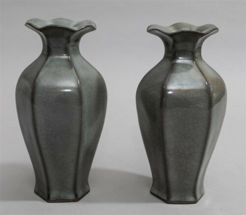 Rare Beautiful Pair of Northern Song Dynasty Style Vases