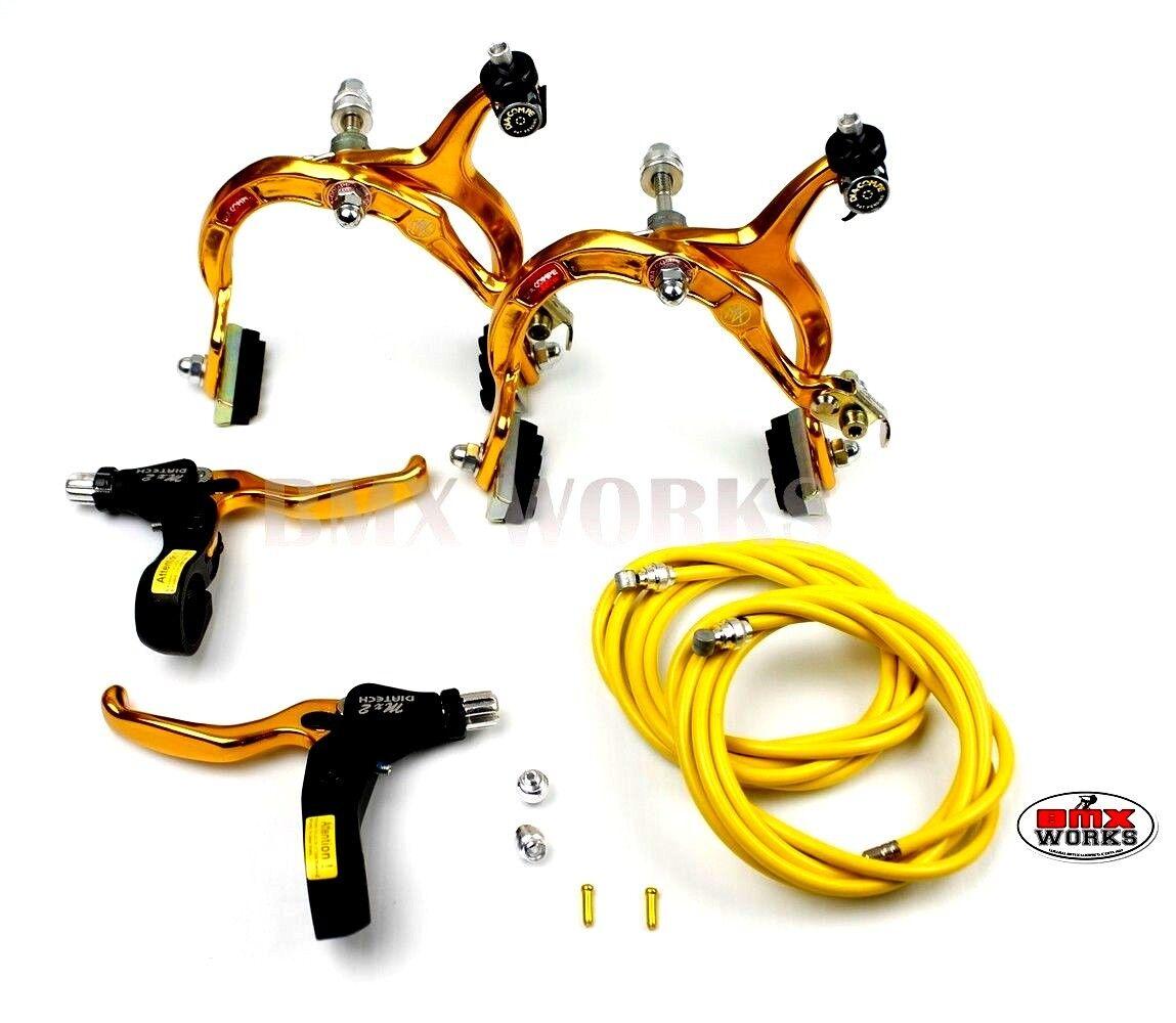 Genuine Dia-Compe BMX MX883 Caliper /& MX2 Lever Gold /& Black Brake Set