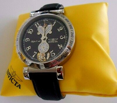 Mint Rare INVICTA 2045 Automatic Objet d'art Tachymeter Watch and Box