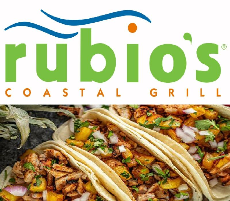 $25 Rubio's Coastal Grill Gift Card