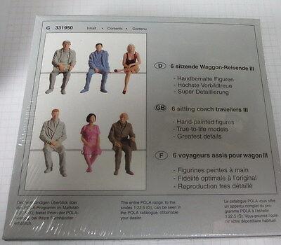 Pola G für LGB _  Figuren _ 6 sitzende Waggon - Fahrgäste/Reisende__ 331950
