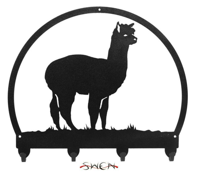 SWEN Products ALPACA Black Metal Key Chain Holder Hanger