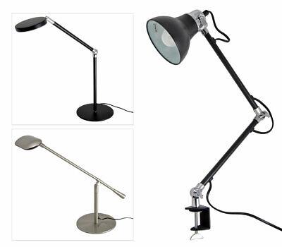 LED Leselampe Clip Klemmleuchte Schreibtischlampe Büroleuchte Touch Dimmbar Neu