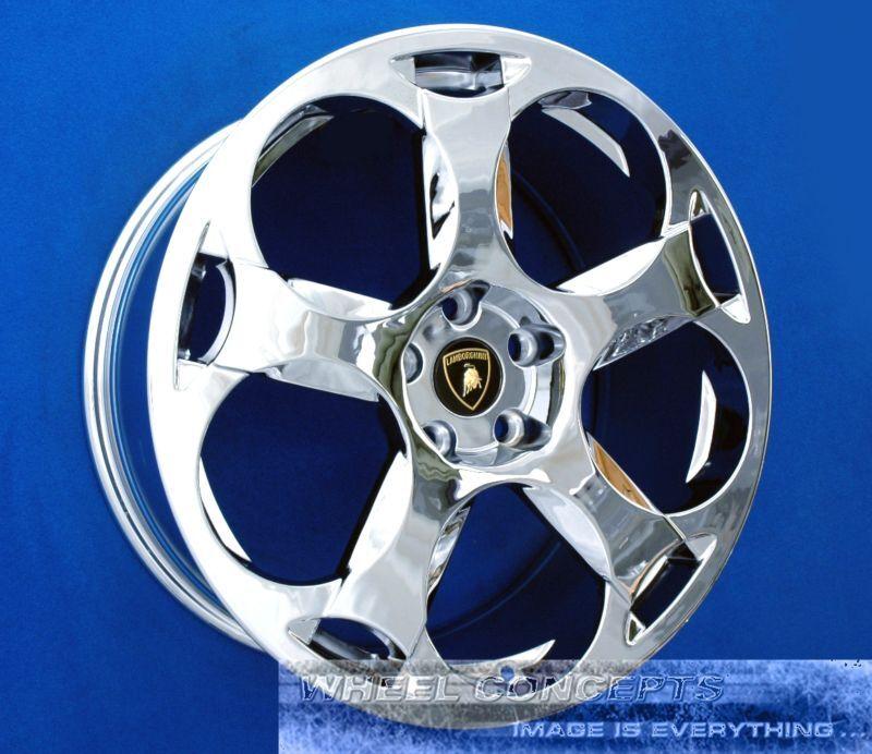 Set Of 4 Lamborghini Gallardo 19 Inch Chrome Wheels Rims Cassiopeia 400601025a