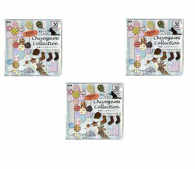 toyo 3 pack set 30 patterns of double side chiyogami