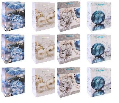 12 Stück Geschenktüten Weihnachtskugeln - Gross 32 x 26 x 9 cm ()